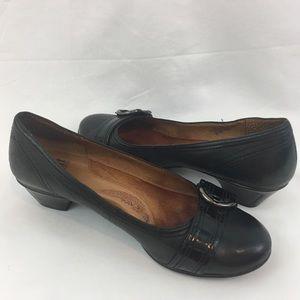 "Sofft Ballet Buckle 1.5"" Heel Black 7.5M"
